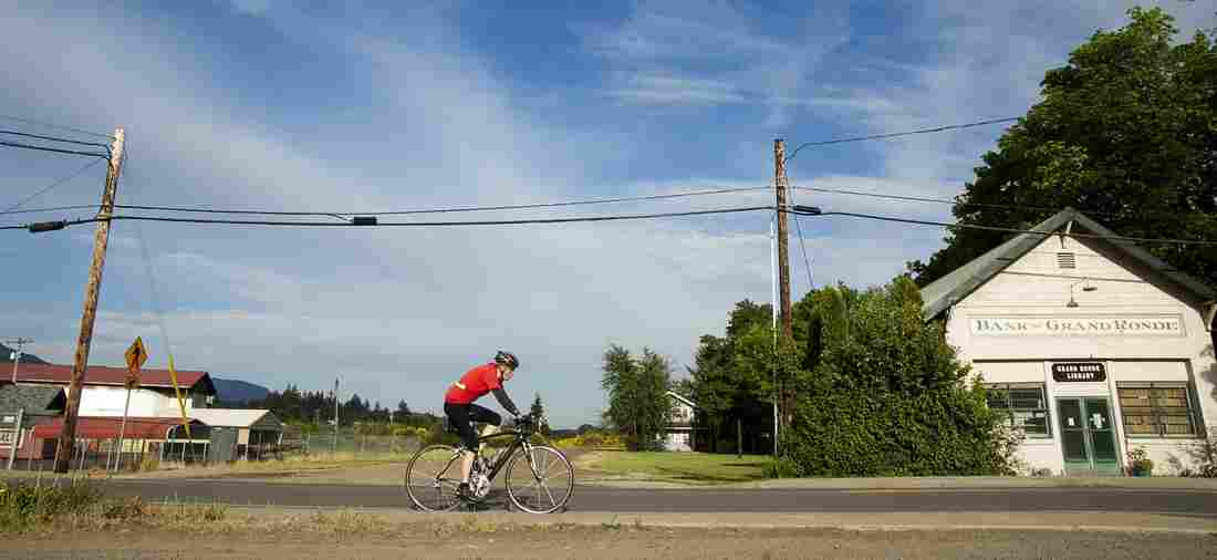 Michael Bingle of Vancouver, Wash., rides through Grand Ronde, Ore., during a 400-kilometer randonnée in May.