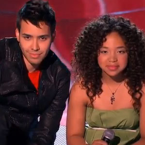 La Voz Kids coach Prince Royce tries to persuade 11-year-old Paola Guanche to join his team.
