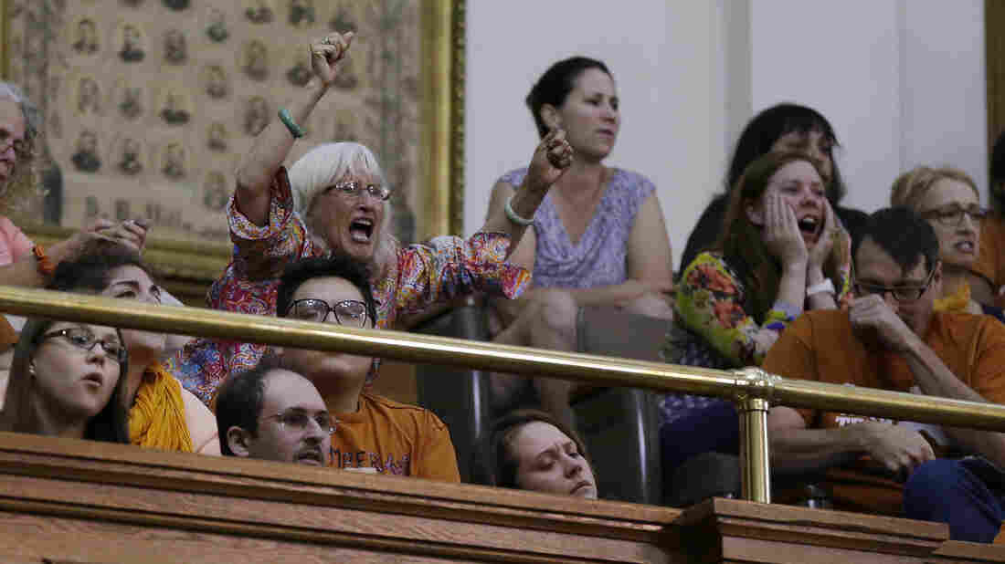 "Members of the gallery in the Capitol in Austin played a role in a vote on an abortion bill taking place after an official deadline. ""We will not allow the breakdown of decorum and decency to prevent us from doing what the people of this state hired us to do,"" Gov. Rick Perry said Wednesday, in calling for a special session."
