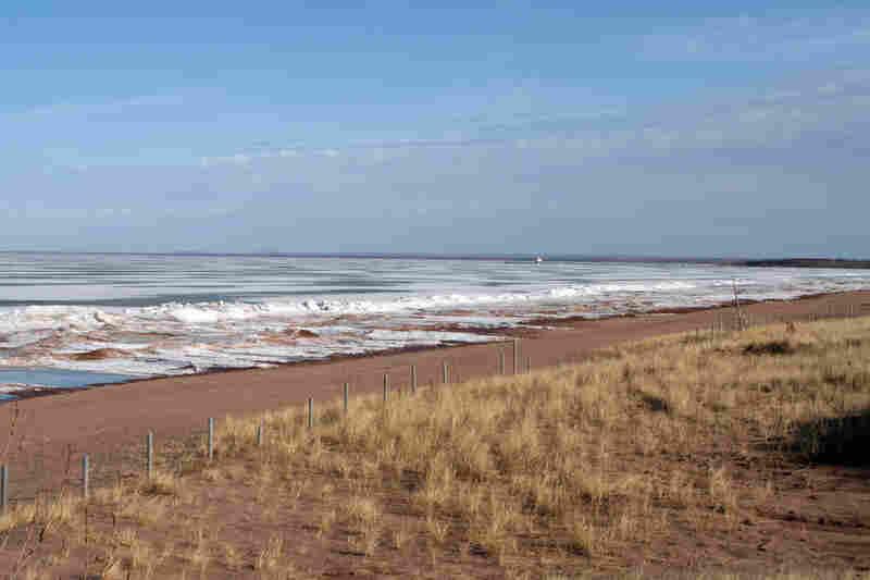 A calm beach view at Park Point Beach in Duluth, Minn.