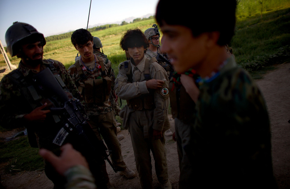 Members of the Afghan Local Police are trying to separate insurgents from the villagers in the Arghandab River Valley near Kandahar. (NPR)