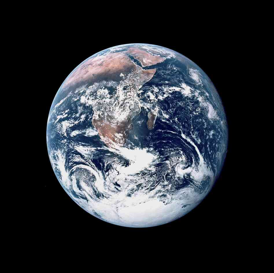 Earth, as seen from Apollo 17 on Dec. 7, 1972.