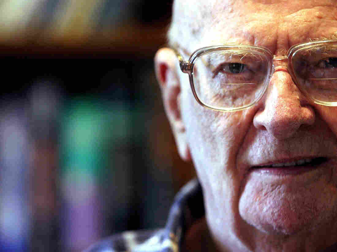 Author Arthur C. Clarke poses for a 2003 portrait at his office in Colombo, Sri Lanka.