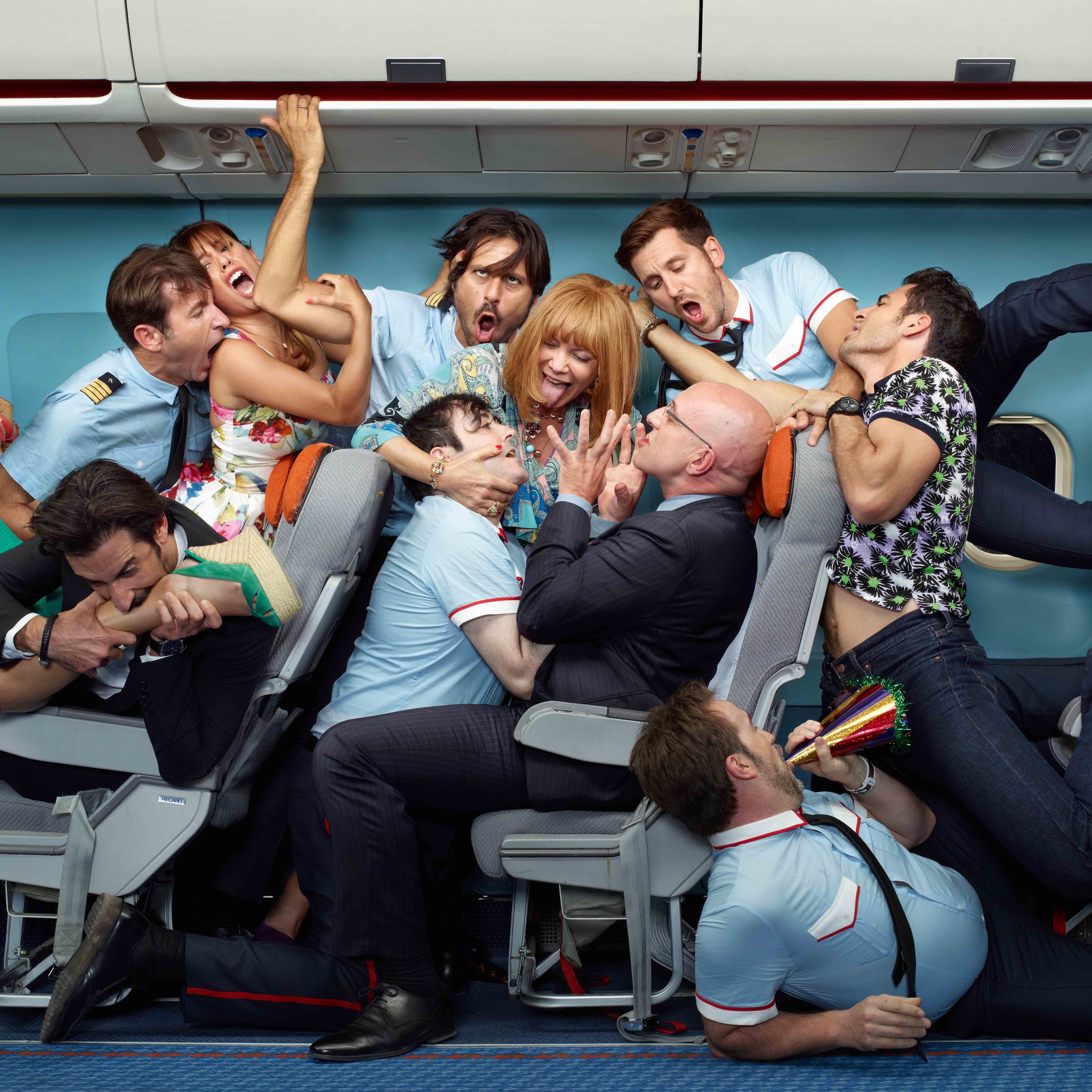 I'm So Excited, a candy-colored comedy from Spanish director Pedro Almodovar (at right), finds an eclectic assortment of highly strung passengers coping with an airborne emergency en route to Mexico City.