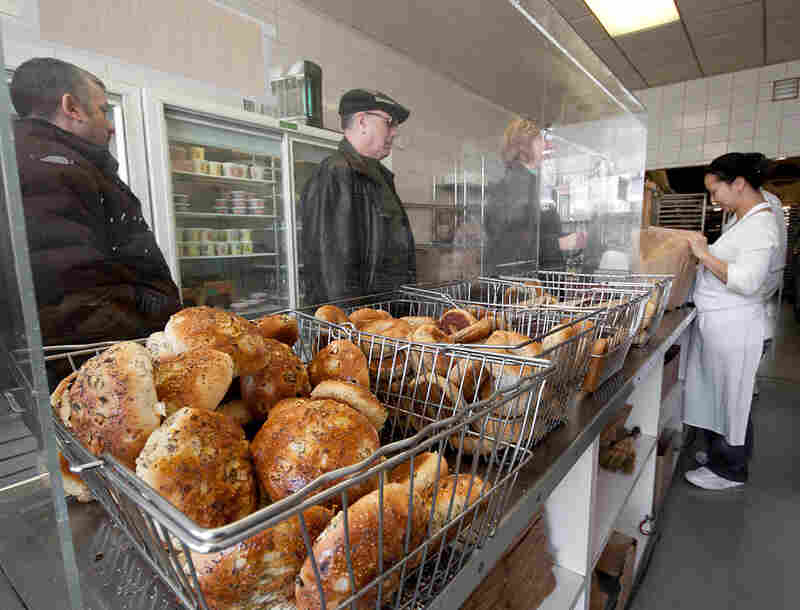 Gryfe's Bagel Bakery is legendary in Toronto, and lines stretch out the door in the morning. The bakery also has a literary claim to fame.