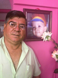 Wilfredo Yanes' 15-year-old son, Ebed, was shot in the back of the head by a Honduran soldier in the capital, Tegucigalpa.