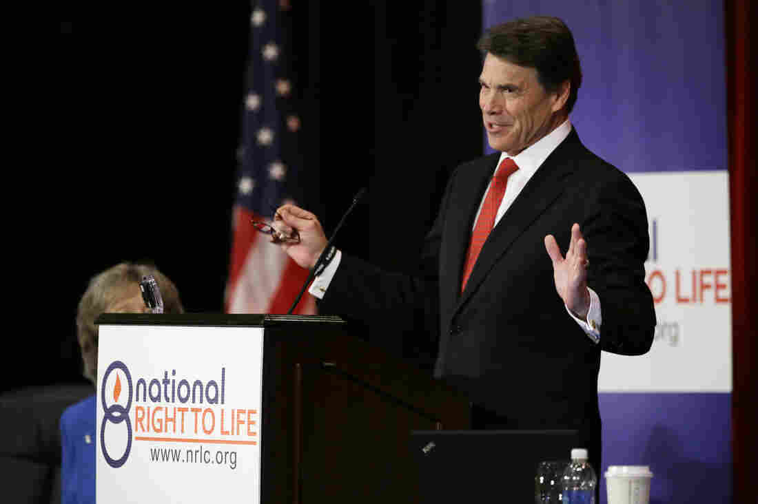 The fight over restrictive abortion legislation in Texas has given Gov. Rick Perry a chance to underscore his conservative credentials.