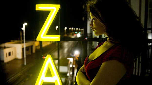 """Clara (Gemma Arterton) is the elder — but not necessarily the most responsible — of a mother-daughter pair of """"sucreants,"""" or blood-drinking immortals some call vampires, in Neil Jordan's Byzantium. (IFC Films)"""