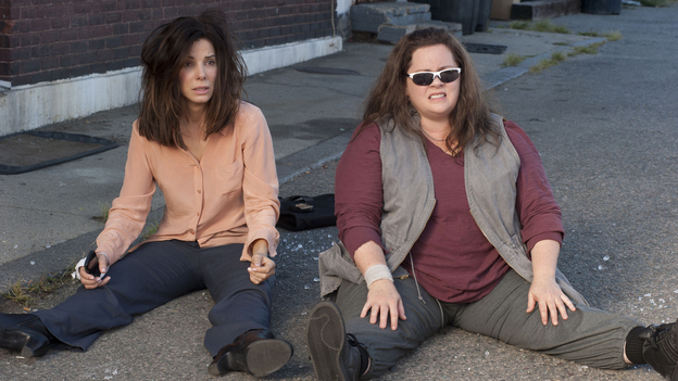 'Heat' Stroke: The genius of this buddy-cop comedy is in its pairing of Sandra Bullock (left, as a by-the-book process nerd of an FBI suit) with Melissa McCarthy, who plays a sloppy Boston detective with no patience for procedure. (Fox )