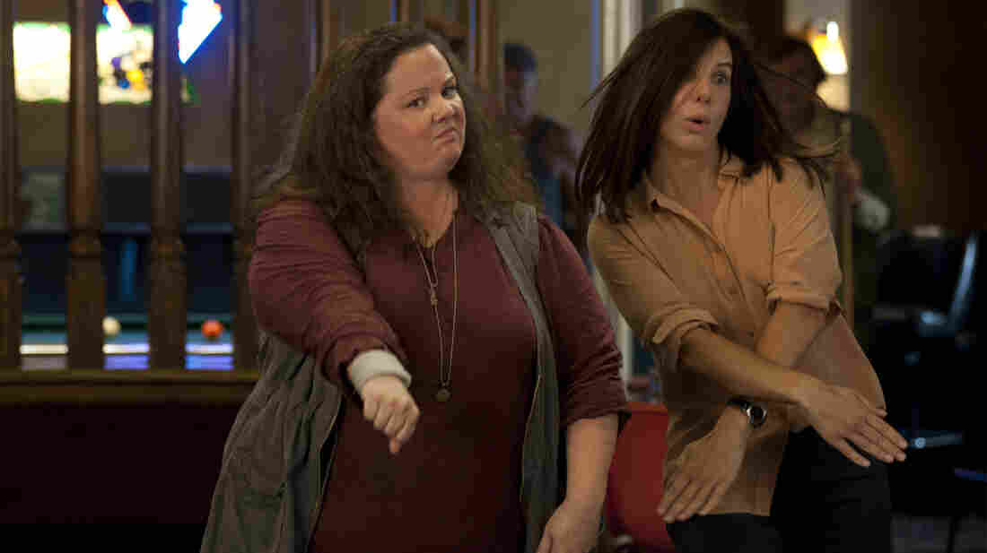 Melissa McCarthy and Sandra Bullock in The Heat.