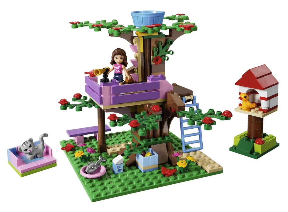 Olivia also has a treehouse. (Lego)