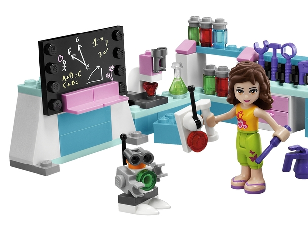 There's a workshop, too, complete with some work on a chalkboard and a robot.