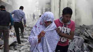 A Syrian woman i
