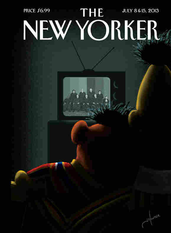 The New Yorker's July 8 and 15th cover.