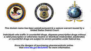 Federal authorities seized a bunch of websites belonging to online pharmacies that were allegedly breaking the law.