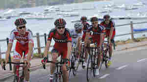 The 2013 Tour de France is breaking with several traditions, as it starts with a sprint stage on Corsica Saturday. Here, American Tejay van Garderen, 24, second from left, trains with his team on the island.