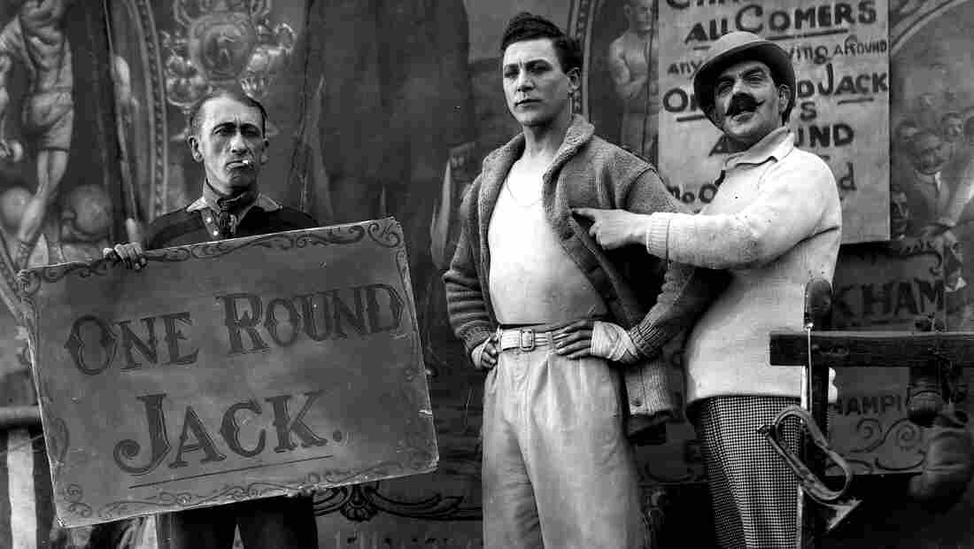 "Carl Brisson stars as sideshow boxer ""One Round Jack"" in Alfred Hitchcock's 1927 film The Ring. That and eight more of the master's early silent features have restored by the British Film Institute."