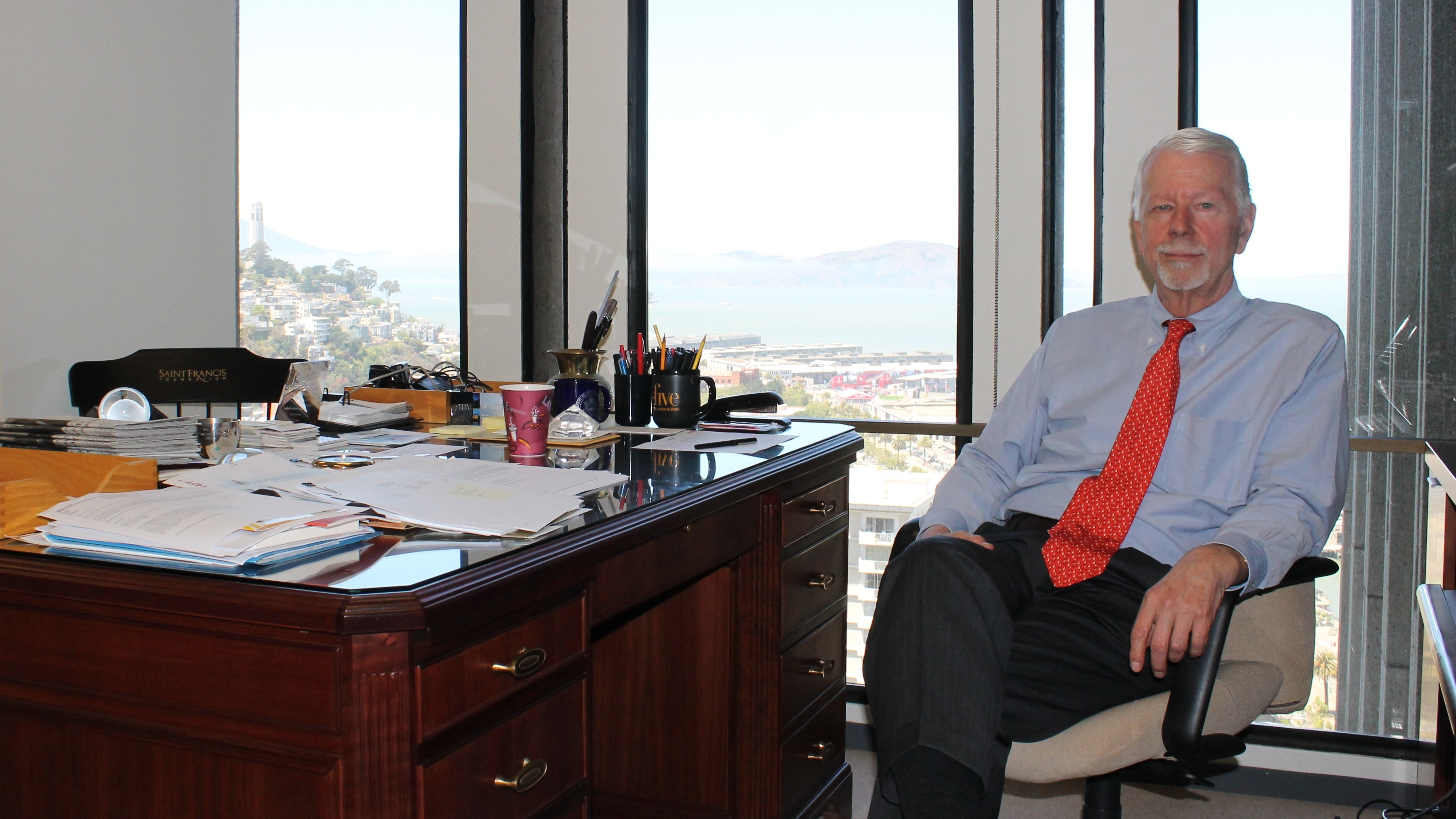 Former Judge Vaughn Walker in his office in San Francisco. He says he knew the Proposition 8 case would be important and would likely make its way to the Supreme Court.