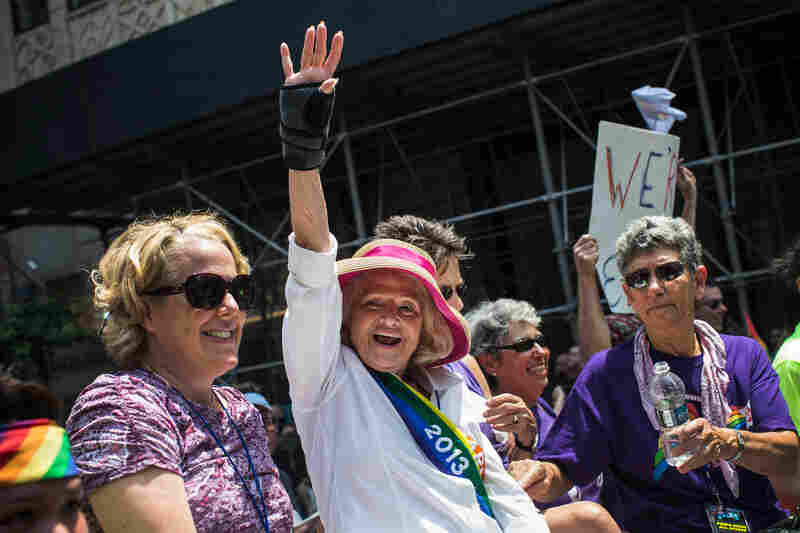 Only days after the Supreme Court used her lawsuit to grant same-sex couples federal marriage benefits, Edith Windsor helped lead New York City's Gay Pride march on Sunday.