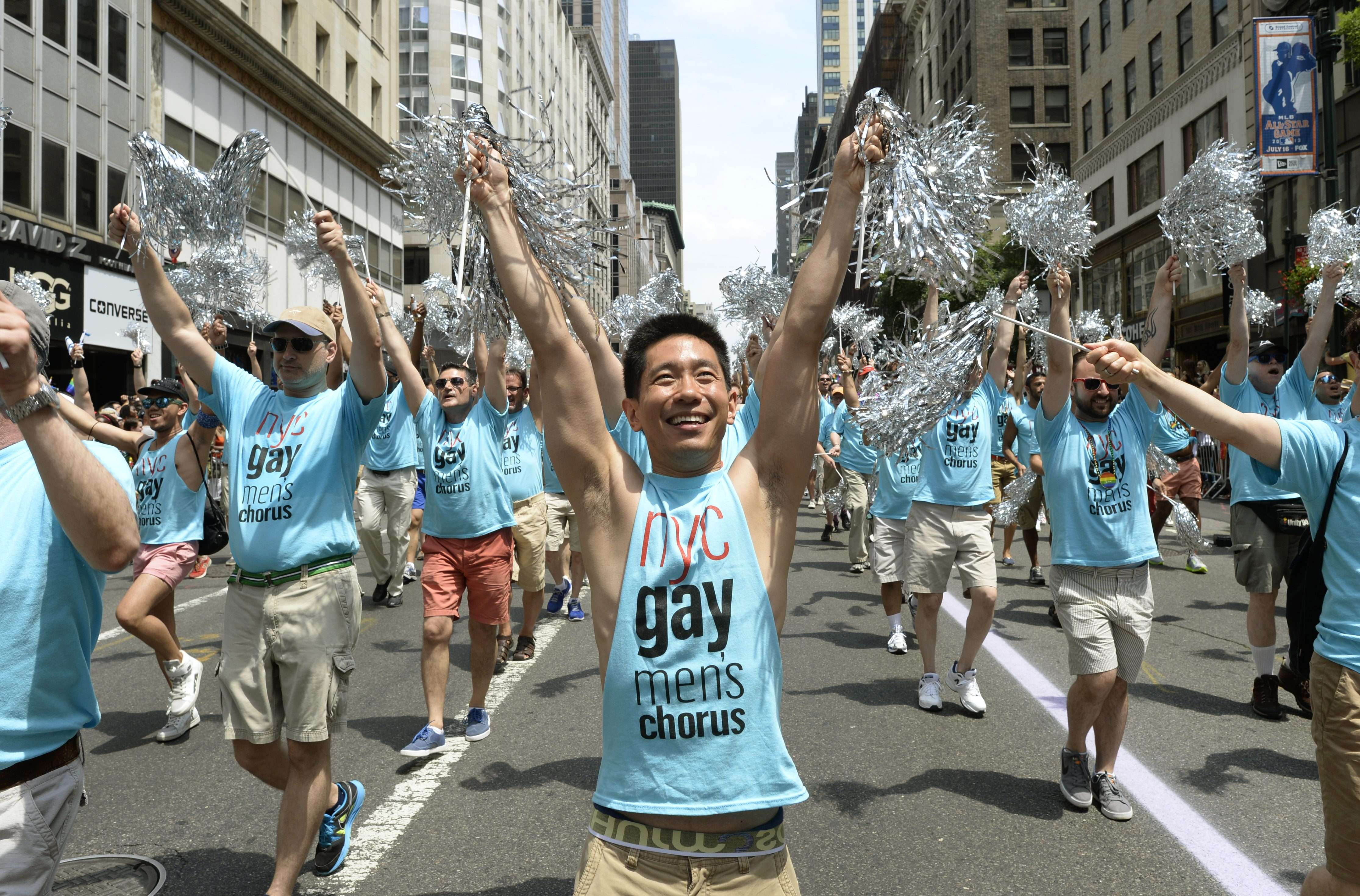 New York City is where the first pride march was held 44 years ago to mark the one-year anniversary of the Stonewall Inn riots that kicked off the modern gay rights movement.