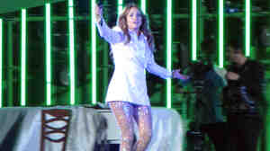 Jennifer Lopez on stage Saturday in Avaza, Turkmenistan.