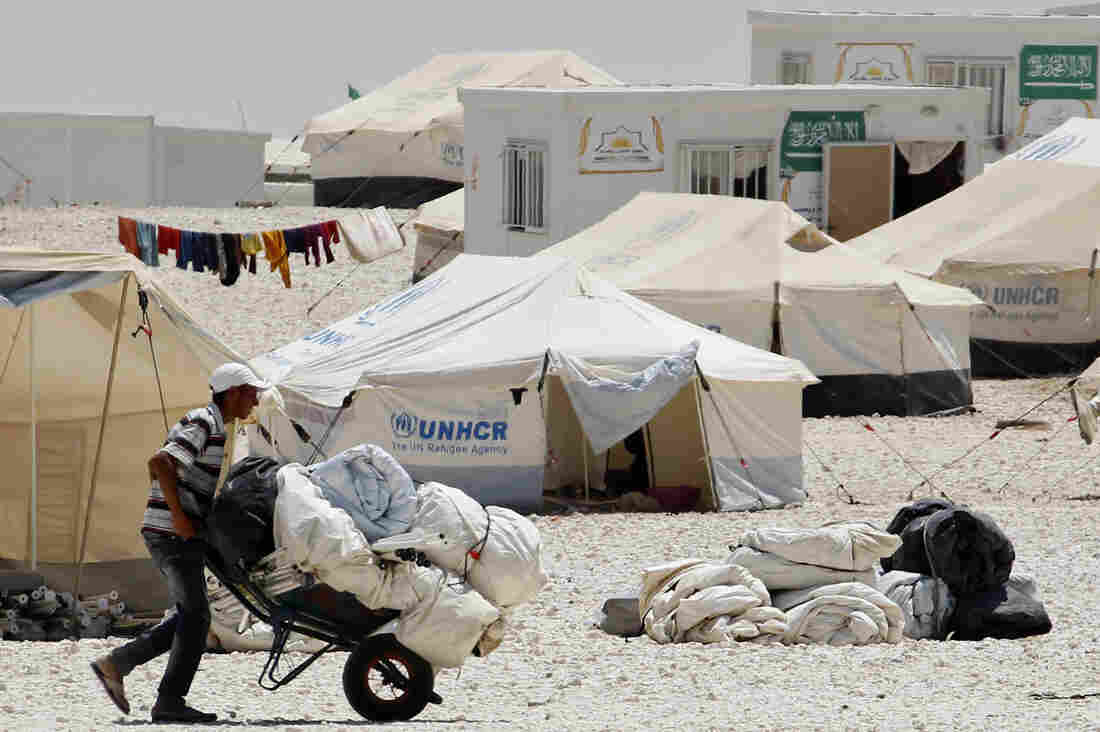 Millions of refugees, such as these at the Zataari camp in Mafraq, Jordan, call the canvas tents provided by the UNHCR home. But the tents are hot during the day, cold at night, afford little privacy, and only last about six months. Ikea and the U.N. refugee agency are working together to come up with an alternative.