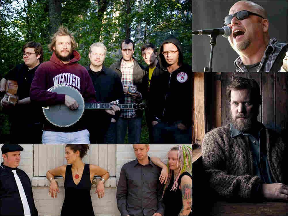 Clockwise from upper left: Volcano Choir, Black Francis of Pixies, John Grant, Dessa