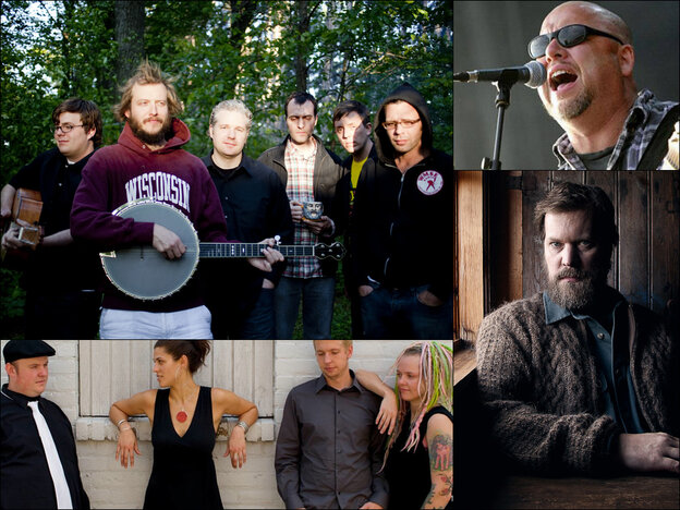 Clockwise from upper left: Volcano Choir, Black Francis of Pixies, John Grant, Dessa