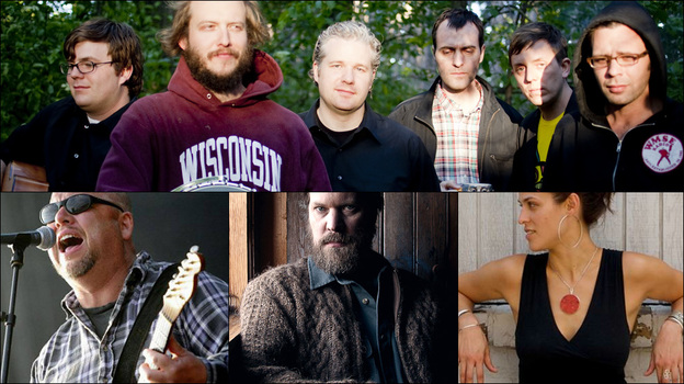 Clockwise from upper left: Volcano Choir, Black Francis of Pixies, John Grant, Dessa (Courtesy of the artists)