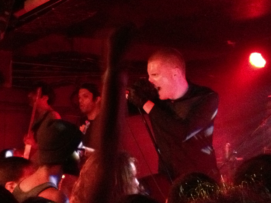 Deafheaven's George Clarke at the Rock and Roll Hotel in Washington, DC