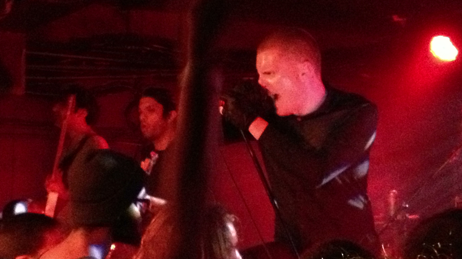 Deafheaven's George Clarke at the Rock and Roll Hotel in Washington, DC (Bob )