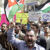 Jordanian protesters chant slogans against corruption during a March 15 anti-government demonstration in Amman. Jordanians have held Arab Spring-inspired protests since 2011, demanding political reforms and anti-corruption measures. The protests have been peaceful.
