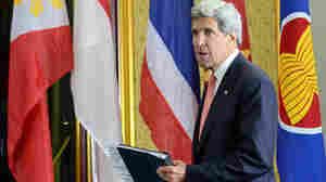 European Union officials spoke to Secretary of State John Kerry about claims that the U.S. spied on EU offices in America. Kerry is in Brunei for a security conference.
