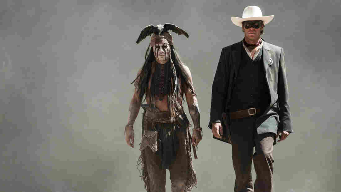 There's a backstory for just about everything in Gore Verbinski's The Lone Ranger, including what drives the title character (Armie Hammer) to don the mask — and what's up with that dead crow Tonto (Johnny Depp) wears on his head.