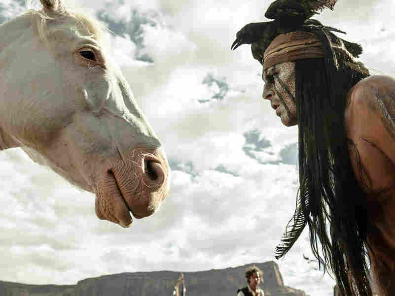 """Johnny Depp says that with his portrayal of Tonto in The Lone Ranger, he tried to """"right the wrongs of what had been done with regards to the representation of Native Americans in cinema."""""""