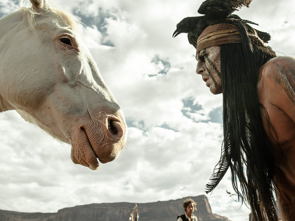 "Johnny Depp says that with his portrayal of Tonto in <em>The Lone Ranger,</em> he tried to ""right the wrongs of what had been done with regards to the representation of Native Americans in cinema."""