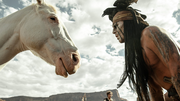 "Johnny Depp says that with his portrayal of Tonto in The Lone Ranger, he tried to ""right the wrongs of what had been done with regards to the representation of Native Americans in cinema."" (Disney)"