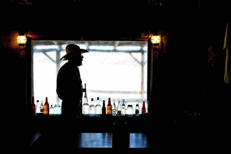 """Greg Del Pozzo, 62, a bartender in Old Middlegate Station, a """"town"""" of 19 people — and the only gas station in 112 miles."""