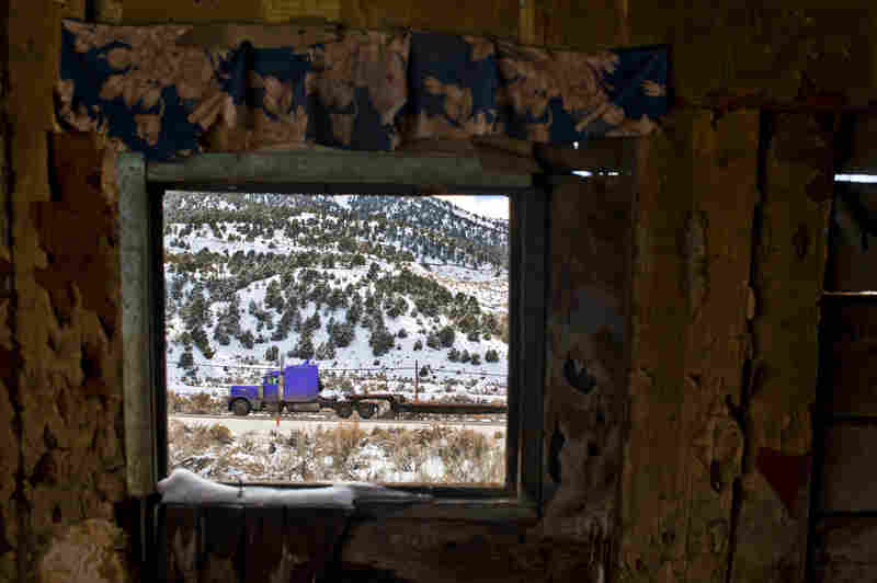 An old shack in a ghost town on the west side of Ely, Nev.
