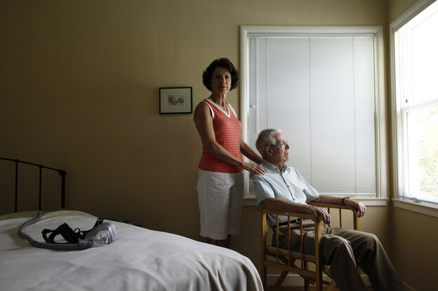 Anne Jones, 62, and Robin Jones, 73, at their home in Menlo Park, Calif. He took a test that revealed proteins typical of Alzheimer's disease.