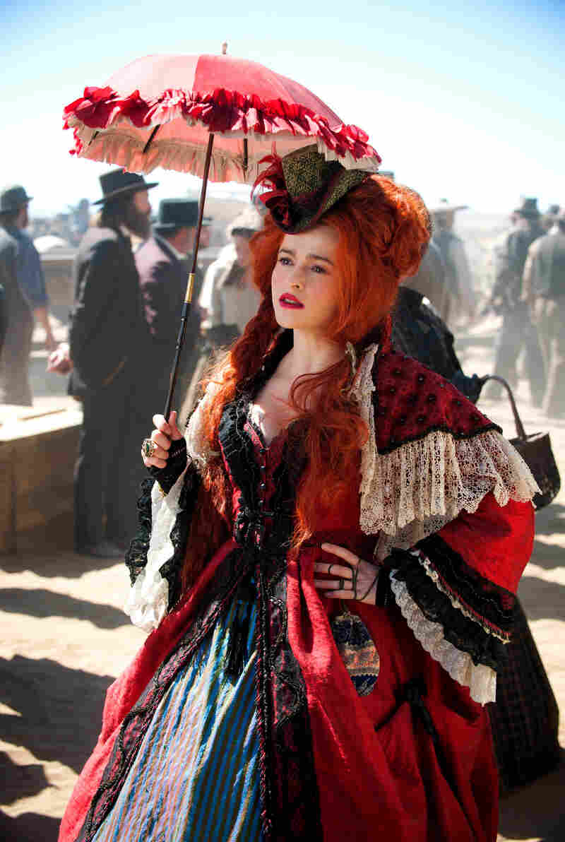 If Johnny Depp's in the film, can Helena Bonham Carter (and a bustier) be far behind? In this Ranger, she plays Red, the madam of a Texas brothel who offers aid and comfort to Tonto and his masked companion.