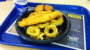 Long John Silver's Big Catch platter will net you 33 grams of trans fats in one meal.