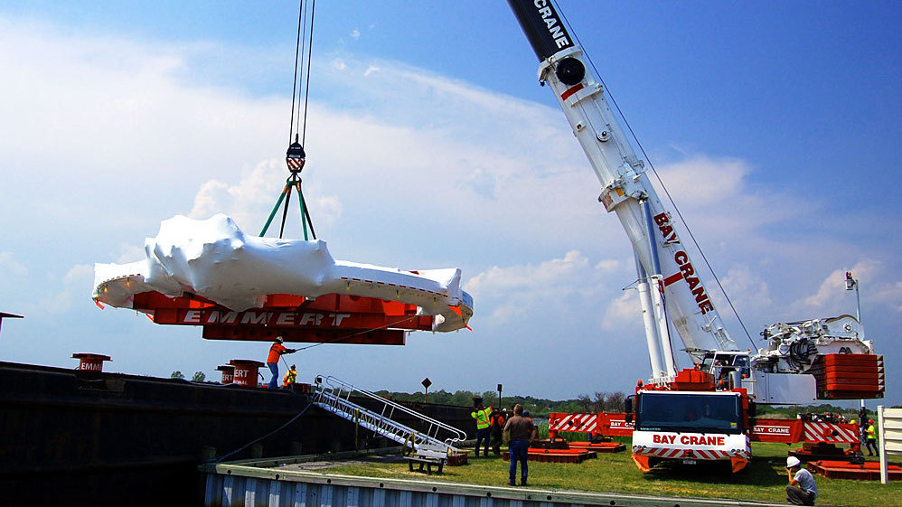 15-Ton Particle Ring Travels To Chicago By Land And By Sea