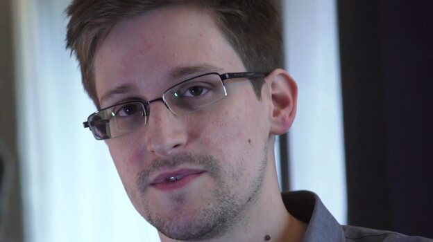 Edward Snowden, seen during a video interview with The Guardian. (EPA /LANDOV)