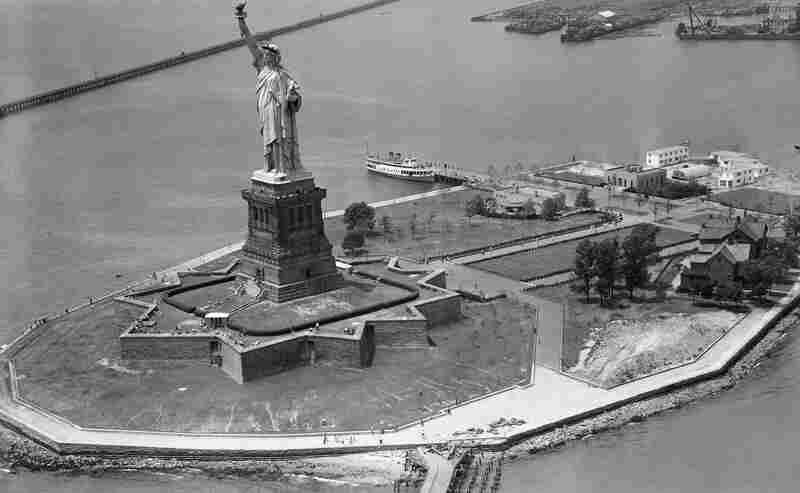 The island that serves as home to the Statue of Liberty — shown here in 1952 — was called Bedloe's Island until 1956, when its name was changed to Liberty Island. It recently reopened after suffering damage from Superstorm Sandy.