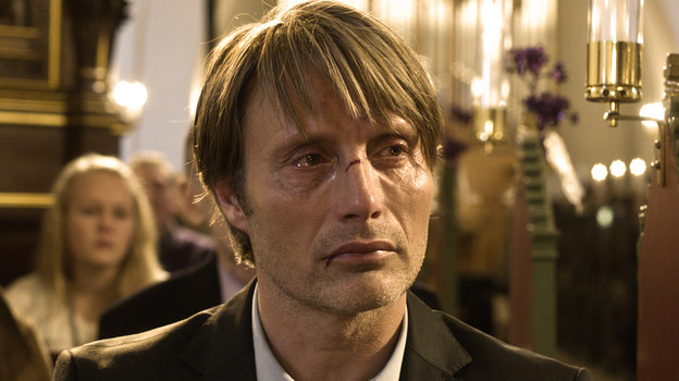 Mads Mikkelsen's Lukas is a recently divorced kindergarten teacher whose life is turned upside down when officials leap to conclusions after a 5-year-old says something that suggests improper conduct. (Magnolia )
