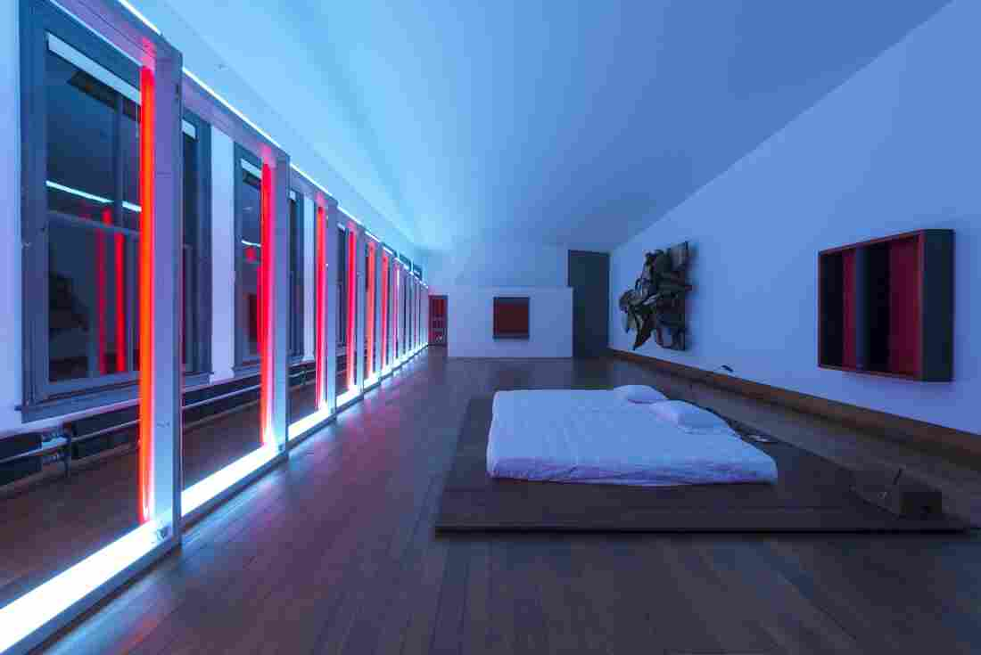 Donald Judd's daughter, Rainer, says her father's bedroom is her favorite space in the house. (101 Spring Street, New York, 5th Floor, 2013.)
