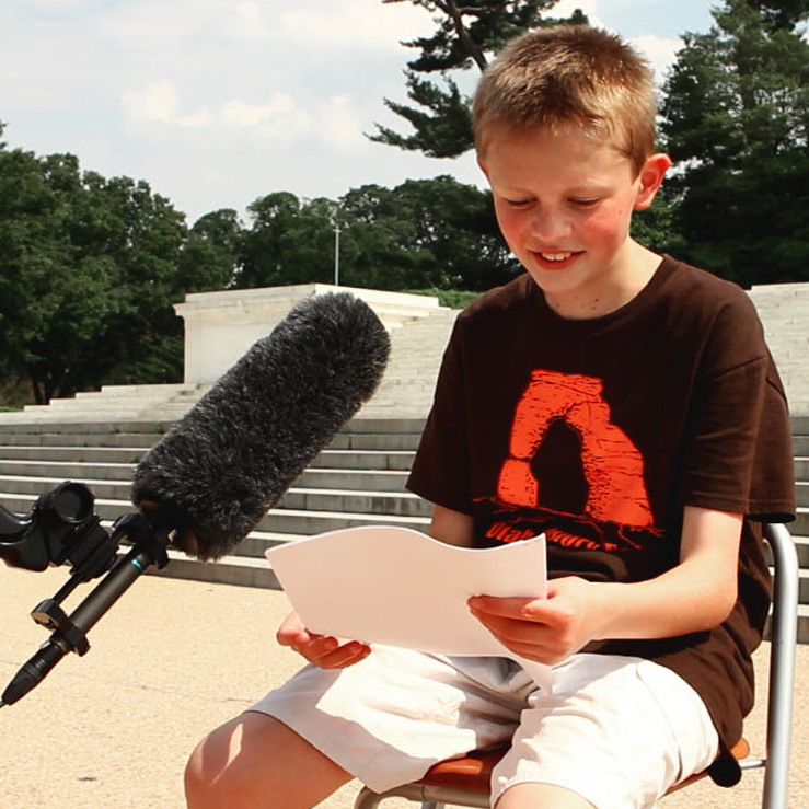 Stewart Merriam of Logan, Utah, reads the Declaration of Independence at the Jefferson Memorial in Washington, D.C., on June 12.