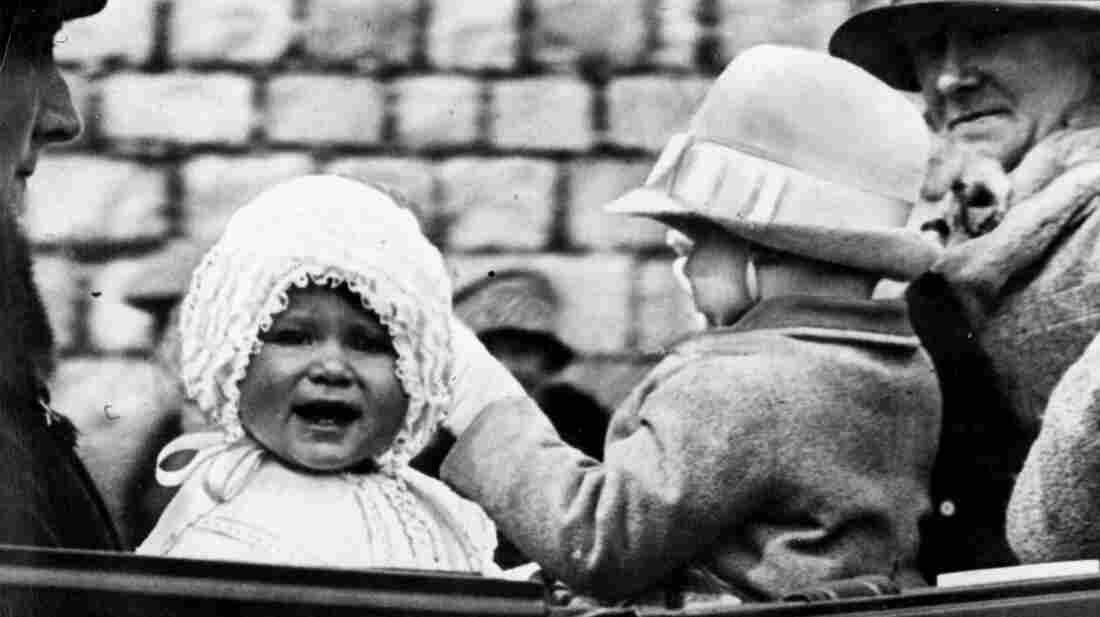 Little Princess Elizabeth takes a ride on the grounds of Windsor Castle in 1927 with her cousin, Gerald Lascelles.