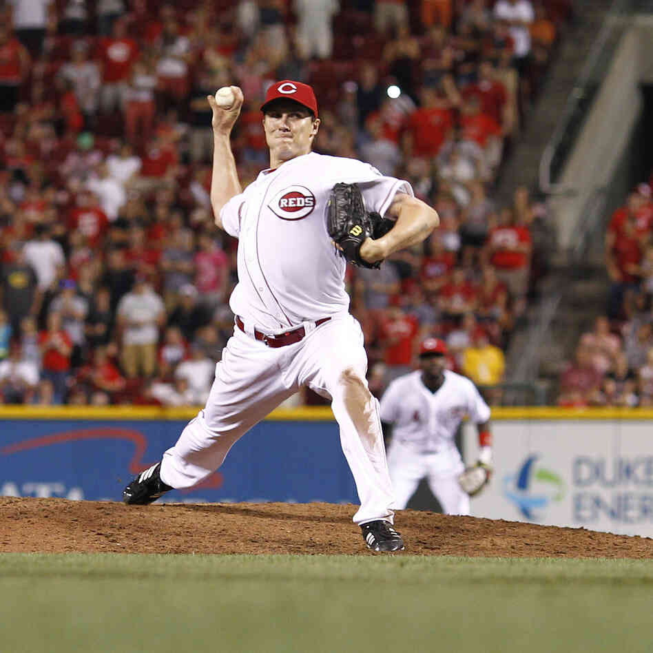 Homer Bailey of the Cincinnati Reds during the no-hitter he pitched Tuesda